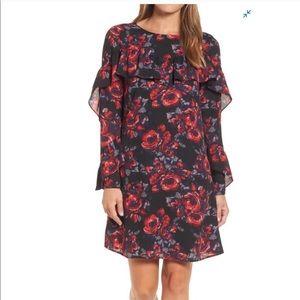 Halogen Floral Bell Sleeve Dress